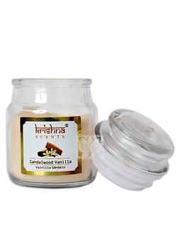 Vela Aromatica Frasco Krishna Sandalo Vainilla 75grs