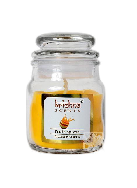 Vela Aromatica Frasco Krishna Explosión Citrica 75grs