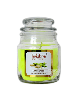 Vela Aromatica Frasco Krishna Lemongrass 75grs