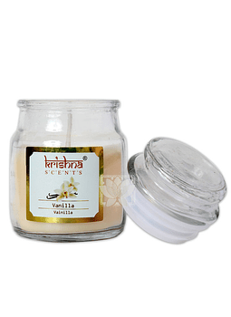 Vela Aromatica Frasco Krishna Vainilla 75grs