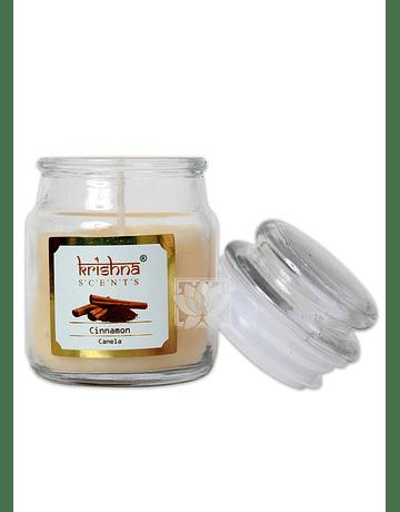 Vela Aromatica Frasco Krishna Canela 75grs