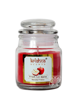 Vela Aromatica Frasco Krishna Manzana 75grs