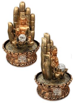 "Pileta de Agua Mano y  Buda  16"" 1618"