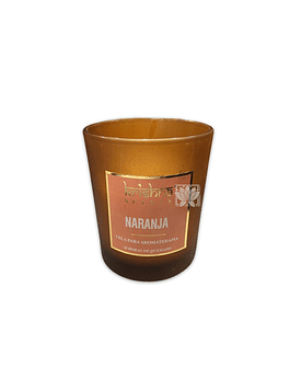 Vela Aromaticas Krishna V. Escarchado Naranja KS-201