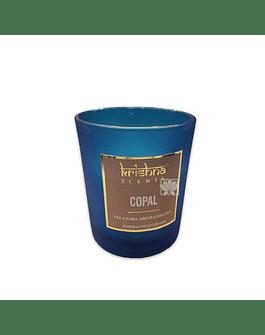 Vela Aromaticas Krishna Vidrio Escarchado Copal KS-201