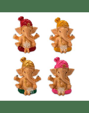 Set Figura Ganesh  Poliresina  2,5