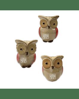 Figura Trio de Buhos  JI16-222