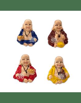"Set Figura Buda Sonriente  Poliresina  1,5"" JI21-58"