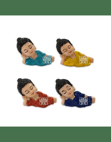Set Figura Budha Acostado  Poliresina  1,5