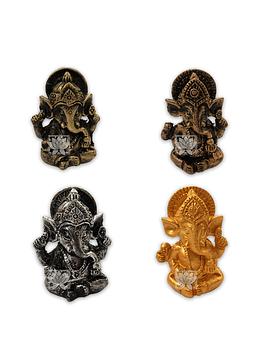 "Set Figura Ganesh  Poliresina  1,7"" JI21-57"