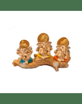 "Set Figura Ganesh  Poliresina Pedestal   3,5"" JI21-59"