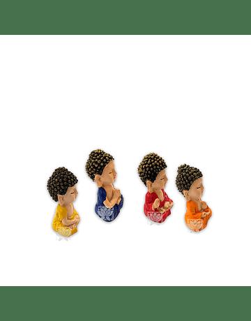 "Set Figura Budha  Poliresina  2,5"" JI21-55"