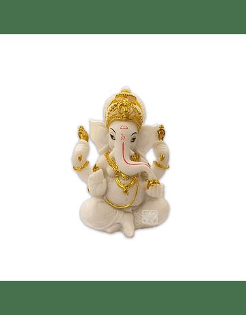Dios Ganesha Blanca en Poliresina    5