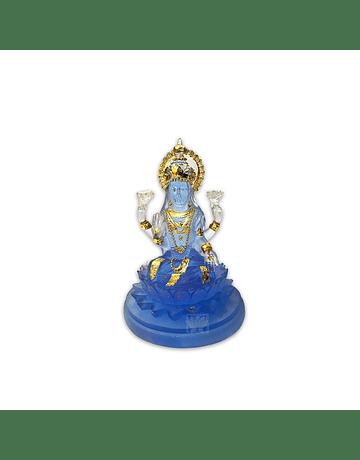 Diosa lakshmi Pequeña  Azul Transparente 4