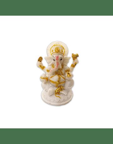 "Dios Ganesh Blanca en Poliresina    7"" JI21-18"