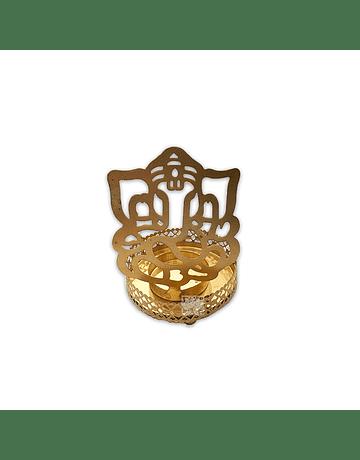 Porta Vela  Metalico Figura Ganesh VDQ20-44
