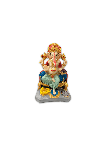 Dios Ganesh Sentado Realista   de  Poliresina    6