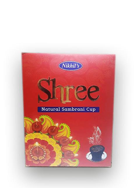 Incienso Natural en Copa Sambrani Shree.