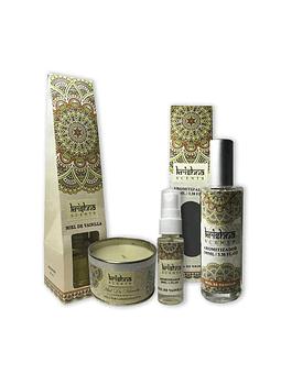 Pack De Aromaterapia Krishna Miel Vainilla.