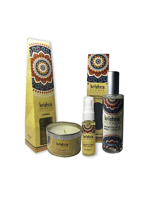 Pack De Aromaterapia Krishna Canela.