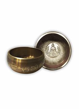 Cuenco Tibetano Tallado de 14 cm