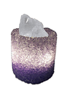 Lámpara de Cristal Natural Eléctrica c/ USB Redonda