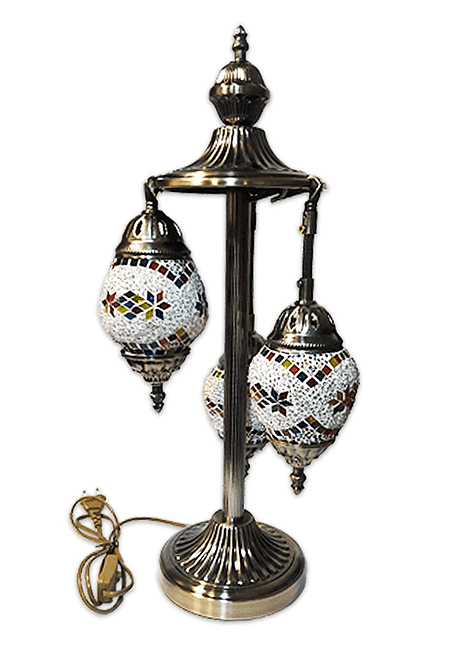 """Lámpara de Cristal de Mosaico Grande 22"""""""