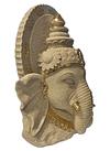 "Rostro Diosa Ganesh en Poliresina  12"""