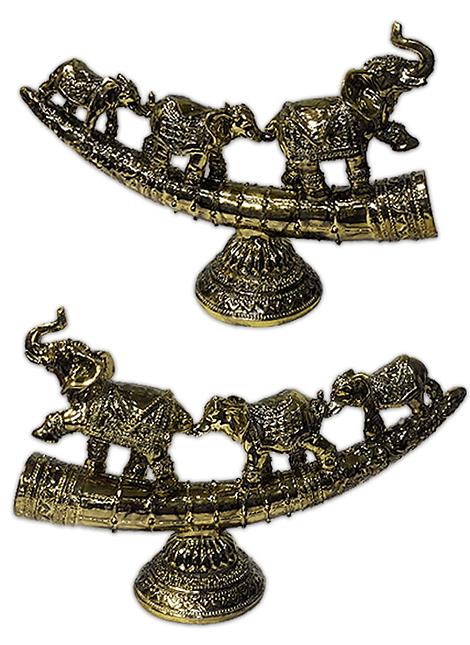 "Fila Elefantes Dorado en Arco  7"""