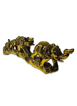 Fila Elefantes Dorado en Arco  11Cm
