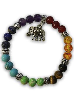 Pulsera 7 Chakras con Elefante
