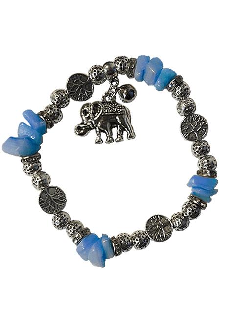 Pulsera con Elefante y Piedra