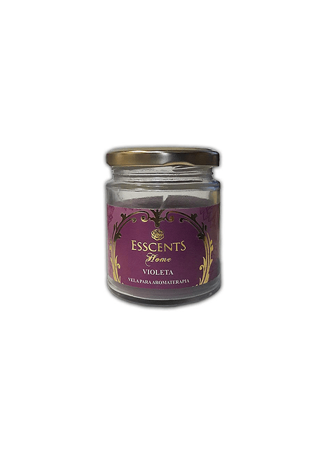 Velas Frasco Esscents con Aroma  Violeta 120grs