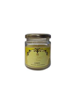 Velas Frasco Esscents con Aroma Limón 120grs