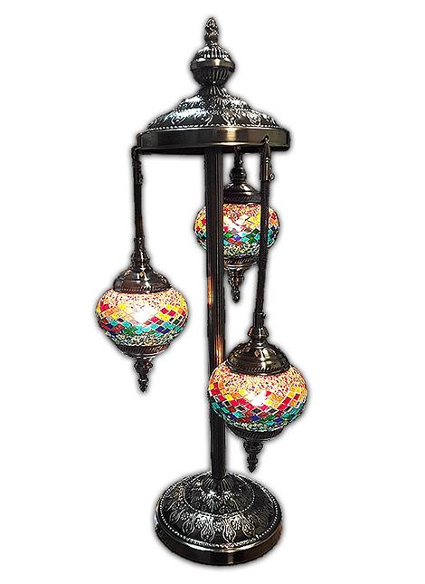 """Lámpara de Cristal de Mosaico Grande 3 faroles 30"""""""