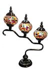 """Lámpara de Cristal de Mosaico Grande 3 faroles 24"""""""