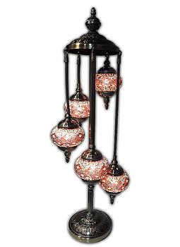 """Lámpara de Cristal de Mosaico Grande 5 faroles 38"""""""