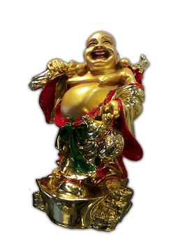 """Buda Grande Dorado Con Cuenco 16"""""""