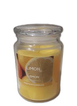 Vela Aroma Frasco Extra Grande Limón