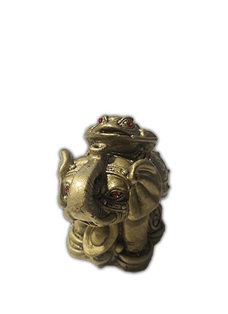 Figura de Elefante c/ Rana Pequeño