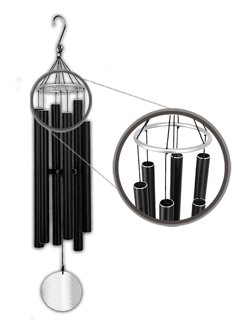 Colgante de tubos Carillon de Viento 116x 16cm