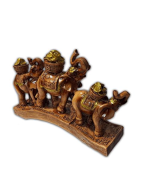 Fila Elefantes Sobre arco de Billetes 13Cm