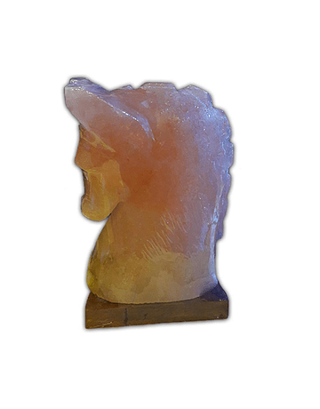 Lampara de Sal Figura  Caballo 8