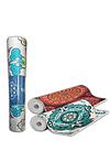 Yoga Mat Mandala Flores Azul 173 x 61 cm 6mm