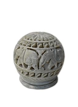 """Porta Vela Jabón Piedra 3"""" Elefante"""