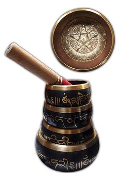 Set de 4 Cuencos Tibetano de 7 metales 15cm