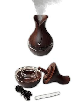 Difusor humidificador ultrasónico Café y Transparente 300ml