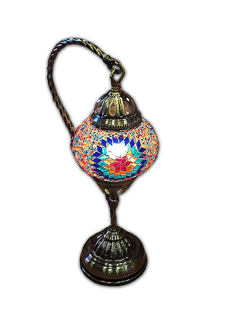 """Lámpara de Cristal Turca de Mosaico 13.5"""""""