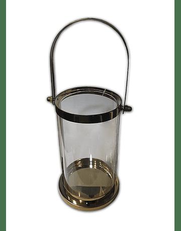 Lámpara Candelabro Vidrio Med. 19.5x9.5cm