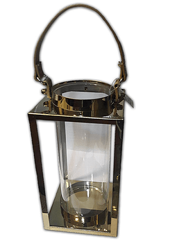 Lámpara Candelabro Vidrio Cuadrado Grd. 27x14cm